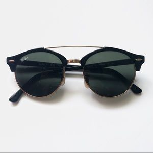 {Ray-Ban} Clubaround Double Bridge Sunglasses
